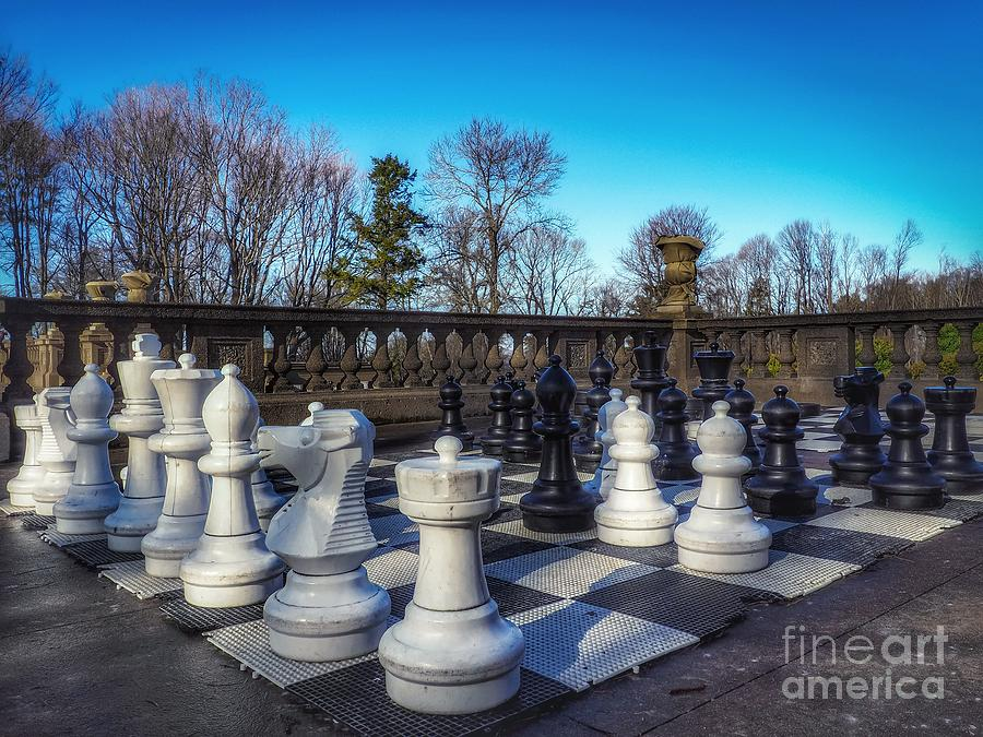 Chess on the Lawn by Mary Capriole