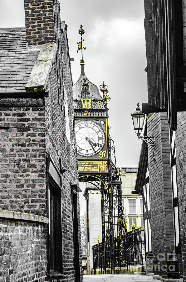 Chester City Clock, Chester, England. by Richard Jemmett