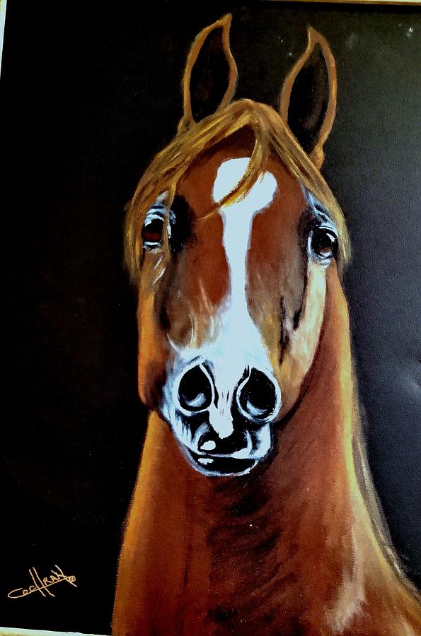 Horse Painting - Chestnut Stallion by Diana Cochran