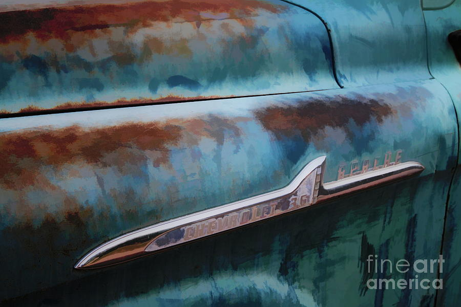 Chevy Digital Art - Chevrolet Apache 36 Pickup - Impression Color by Chris Mautz