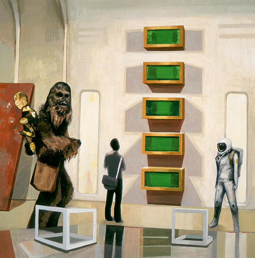 Chewbacca Painting - Chewbacca in Cloud City with Art by Scott Listfield