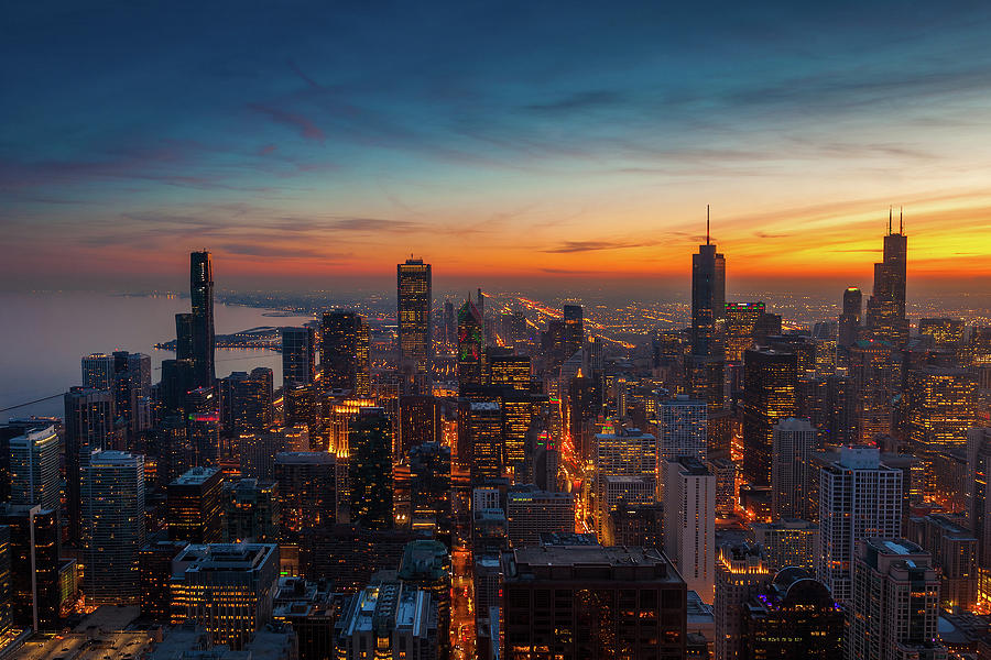 Chicago At Sunset Photograph