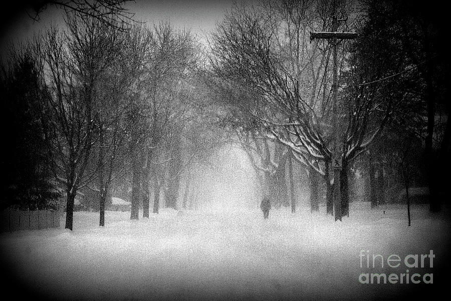 Weather Photograph - Chicago Blizzard - Holga by Frank J Casella