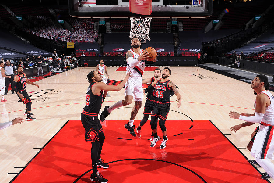 Chicago Bulls v Portland Trail Blazers Photograph by Sam Forencich