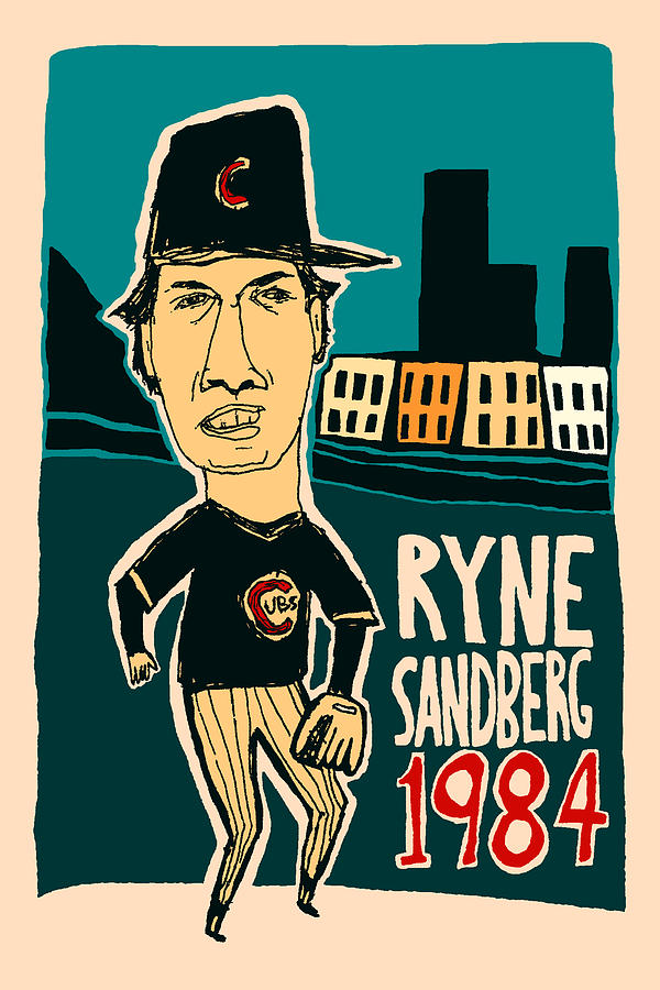 Ryne Sandberg Mixed Media - Chicago Cubs - Ryne Sandberg - Wrigley Field by JB Perkins