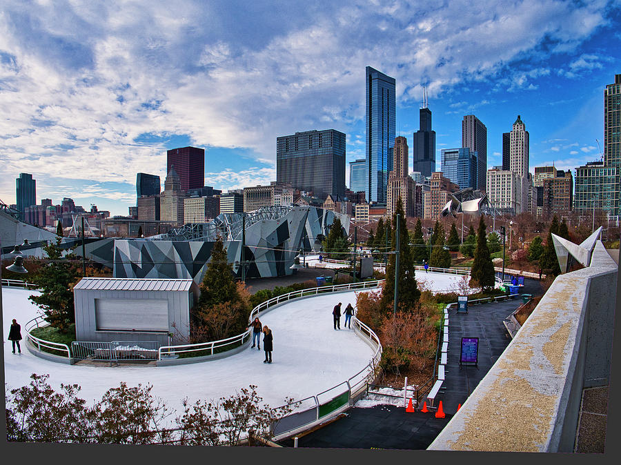 Chicago ice ribbon and climbing wall by Steven Ralser