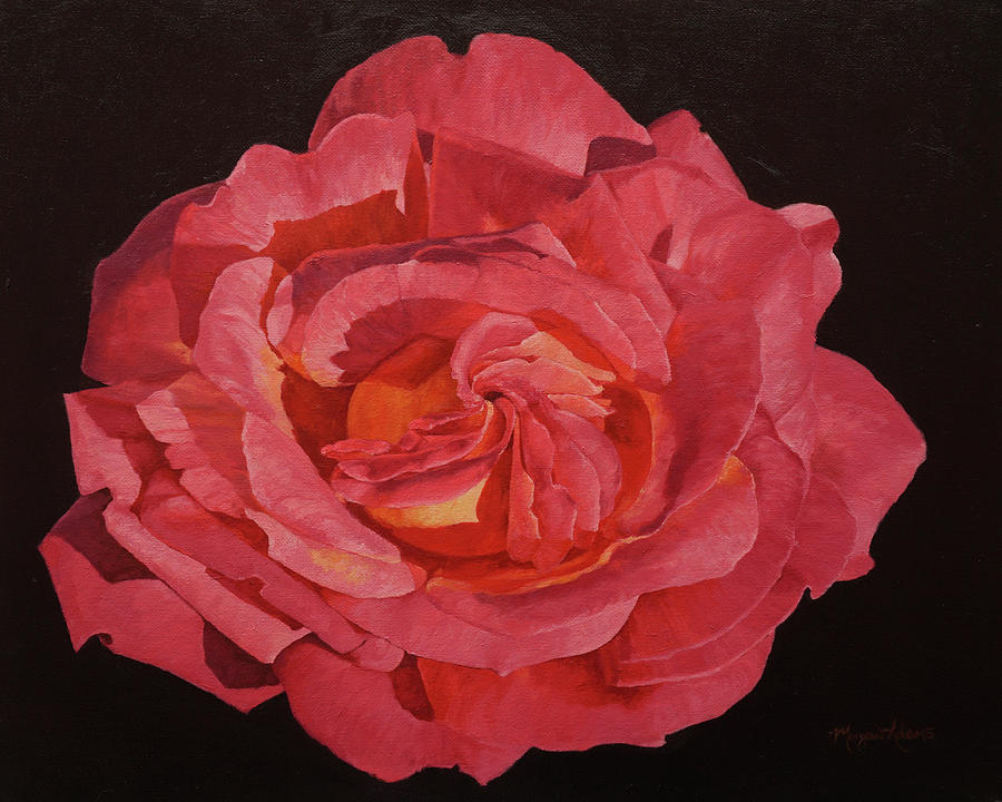 Rose Painting - Chicago Peace Rose by Morgan Adams