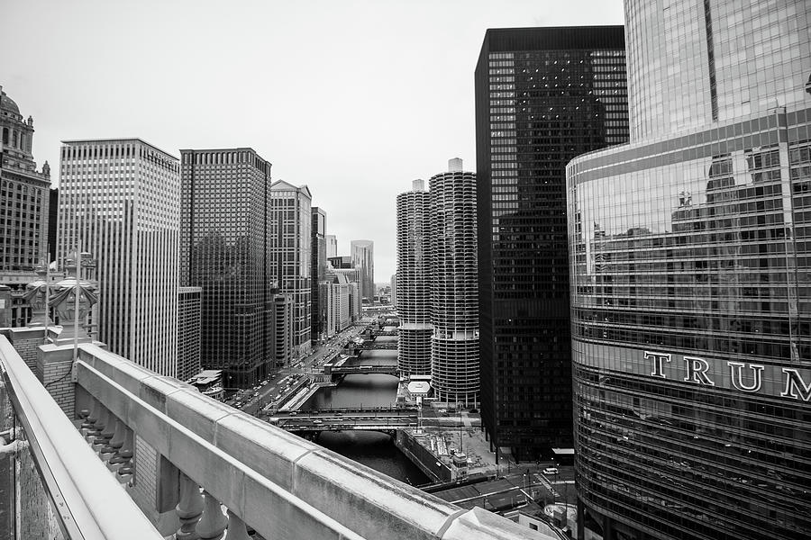 Chicago River From London House by Britten Adams