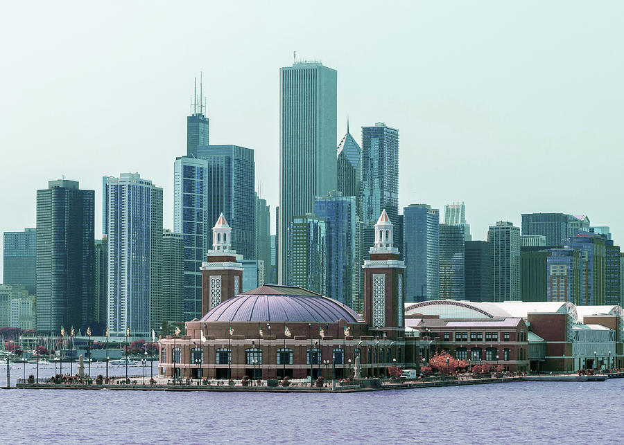 Chicago Skyline, Illinois, Usa - 12 - Surreal Art By Ahmet Asar Digital Art