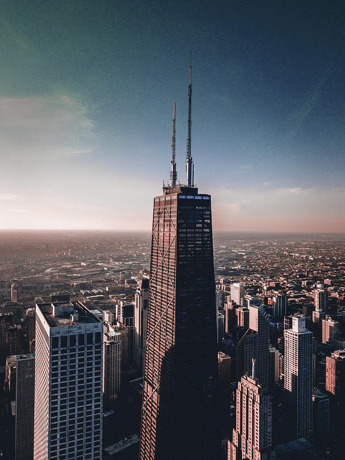 Chicago Skyline, Illinois, Usa - 19 - Surreal Art By Ahmet Asar Digital Art