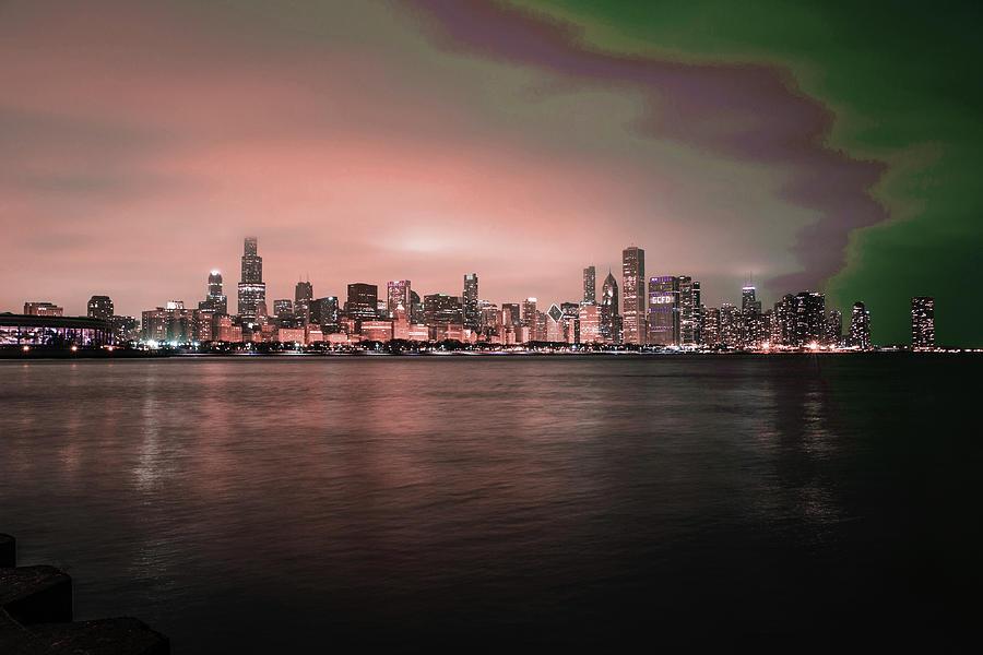 Chicago Skyline, Illinois, Usa - 25 - Surreal Art By Ahmet Asar Digital Art