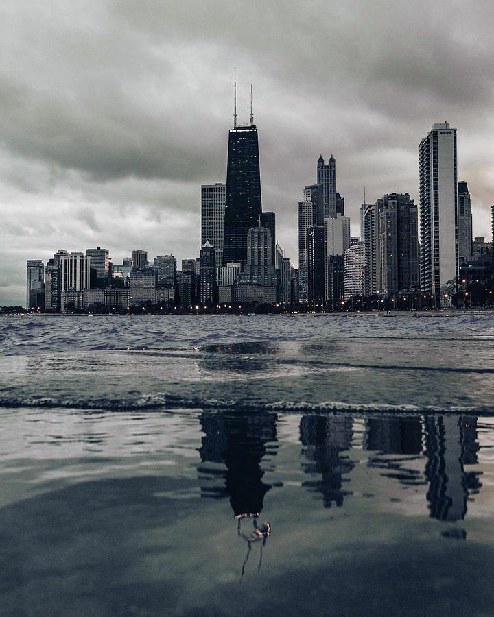 Chicago Skyline, Illinois, Usa - 4 - Surreal Art By Ahmet Asar Digital Art