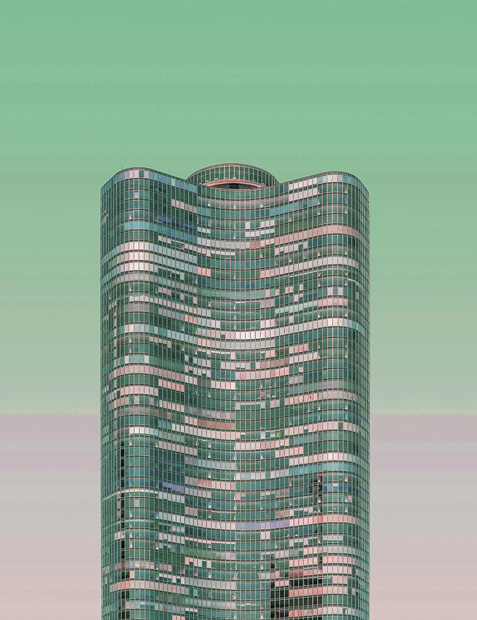 Chicago Skyline, Illinois, Usa - 43 - Surreal Art By Ahmet Asar Digital Art
