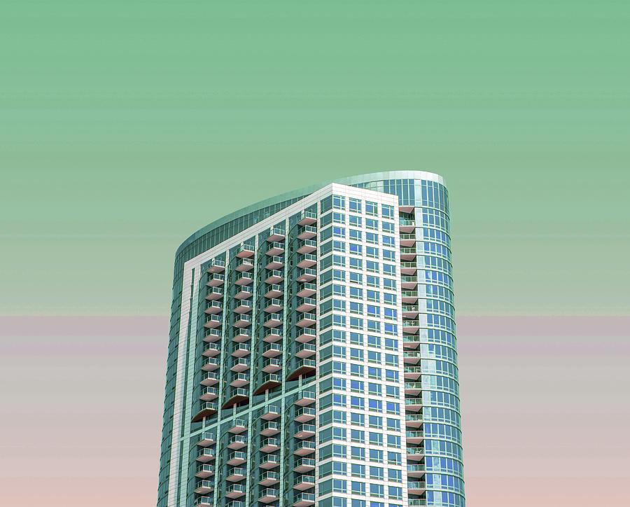 Chicago Skyline, Illinois, Usa - 46 - Surreal Art By Ahmet Asar Digital Art