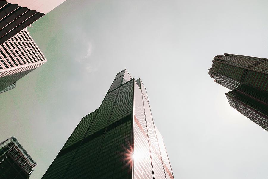 Chicago Skyline, Illinois, Usa - 49 - Surreal Art By Ahmet Asar Digital Art