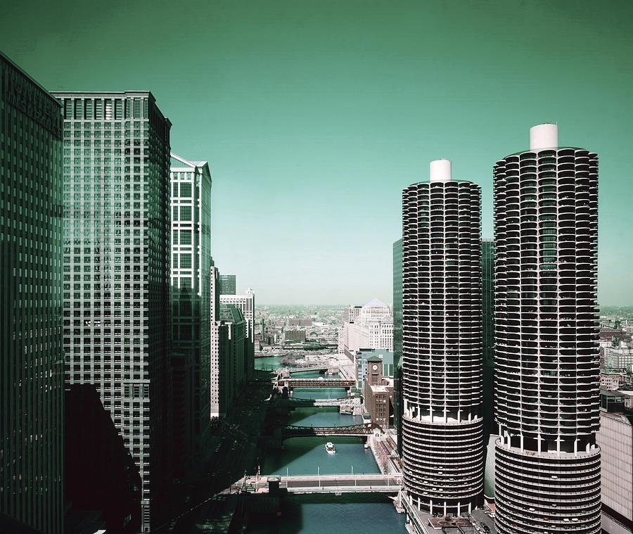 Chicago Skyline, Illinois, Usa - 7 - Surreal Art By Ahmet Asar Digital Art