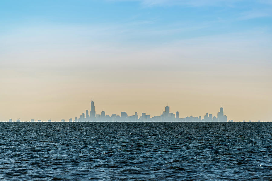 Chicago Skyline Seen From Lake Michigan Photograph By Ognian Setchanov
