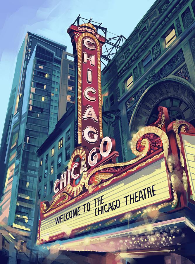 Chicago Theatre Digital Art