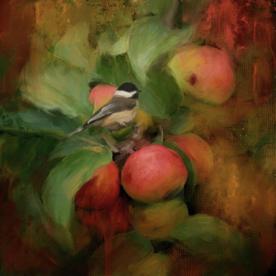 Chickadee In The Apple Tree by Jai Johnson