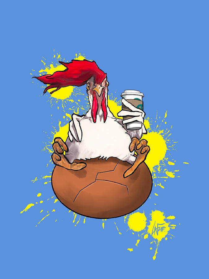 Chicken And The Egg Drawing