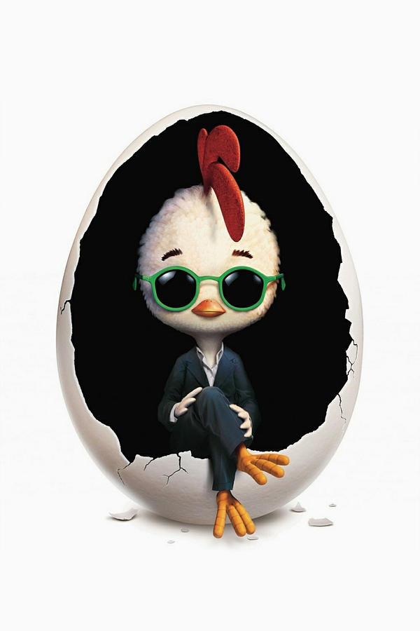 Chicken Little 2005 Digital Art By Geek N Rock