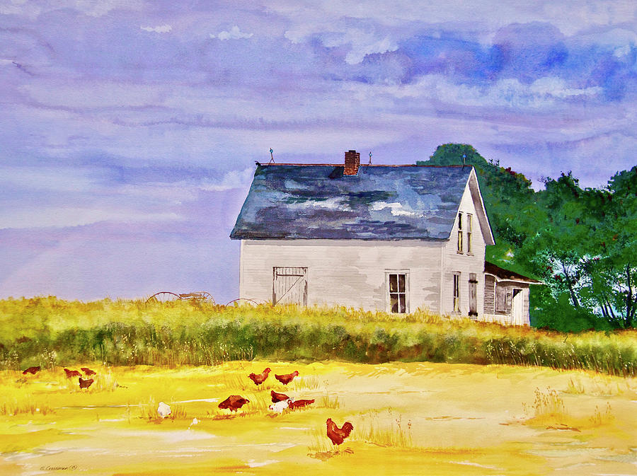 Chickens In The Wheatfield Photograph