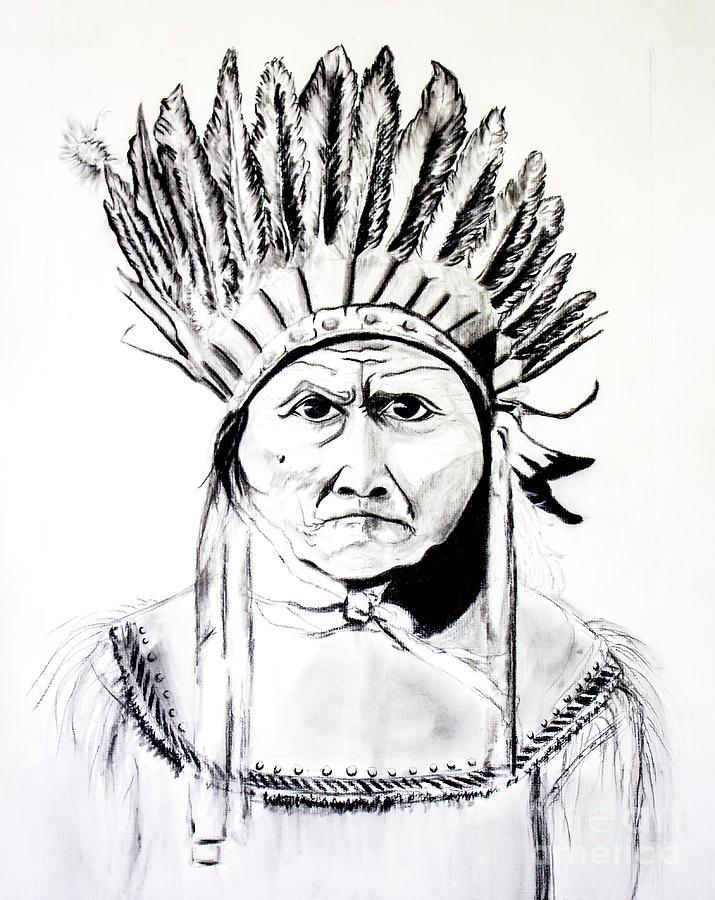 Chief Painting - Chief Geronimo by Ayasha Loya