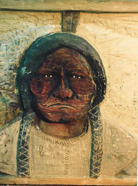 Indian Sculpture - Chief Sitting Bull by Michael Pasko