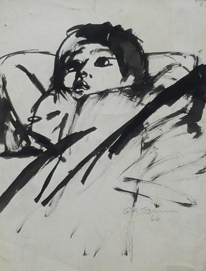 Child Drawing - Child Daydreaming by Galya Tarmu