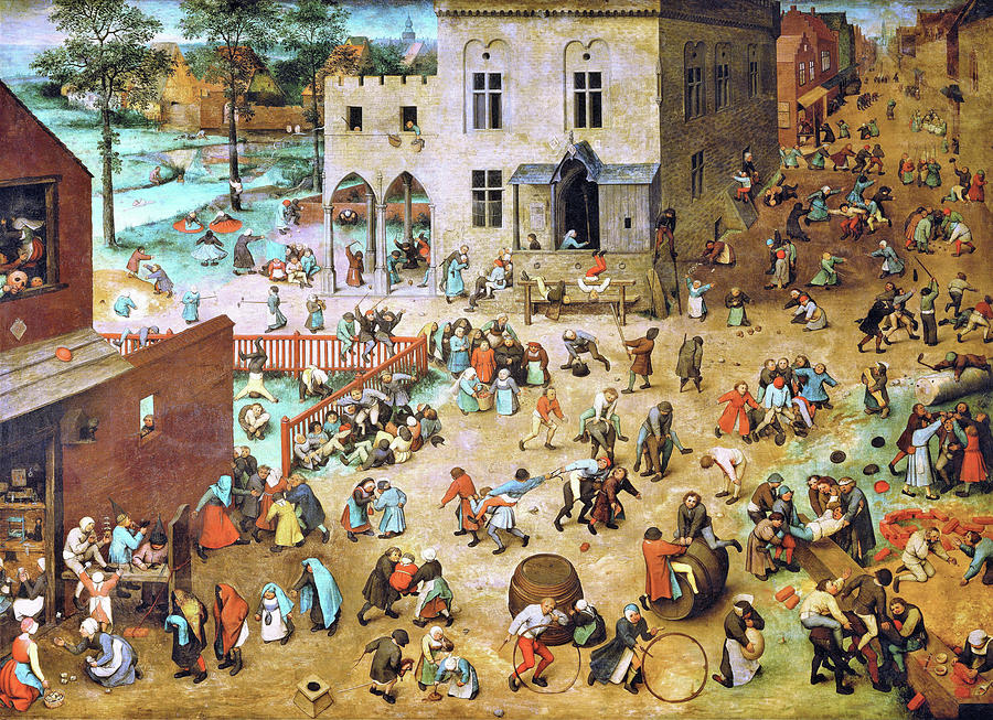 Pieter Bruegel Painting - Childrens Games - Digital Remastered Edition by Pieter Bruegel