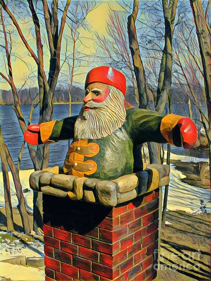 Chimney Santa by Leo and Marilyn Smith