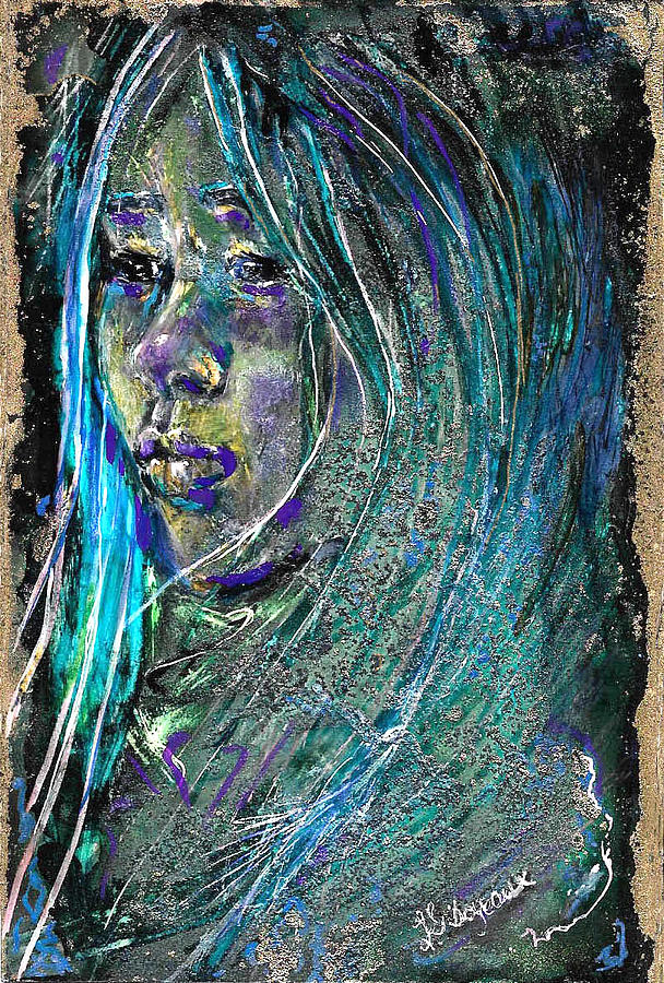 Girl Painting - Chin up, Look Ahead by Lucy Giboyeaux