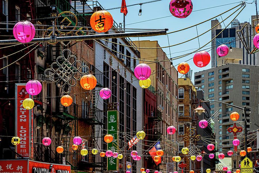 Chinatown Nyc And Lanterns Photograph