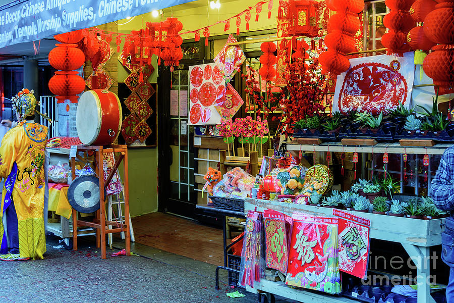 Chinese Street Shop Photograph