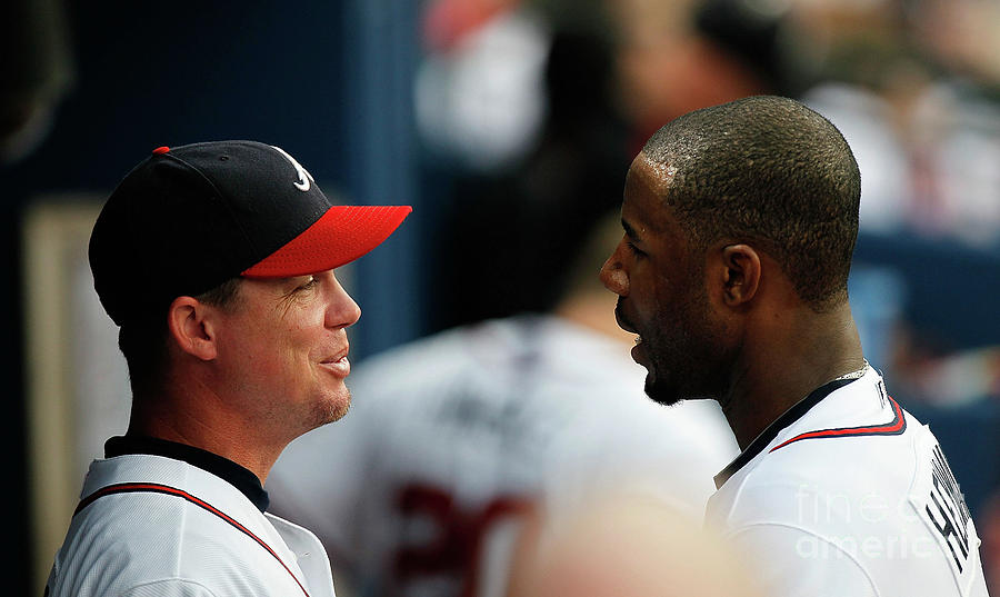 Chipper Jones and Jason Heyward Photograph by Kevin C. Cox