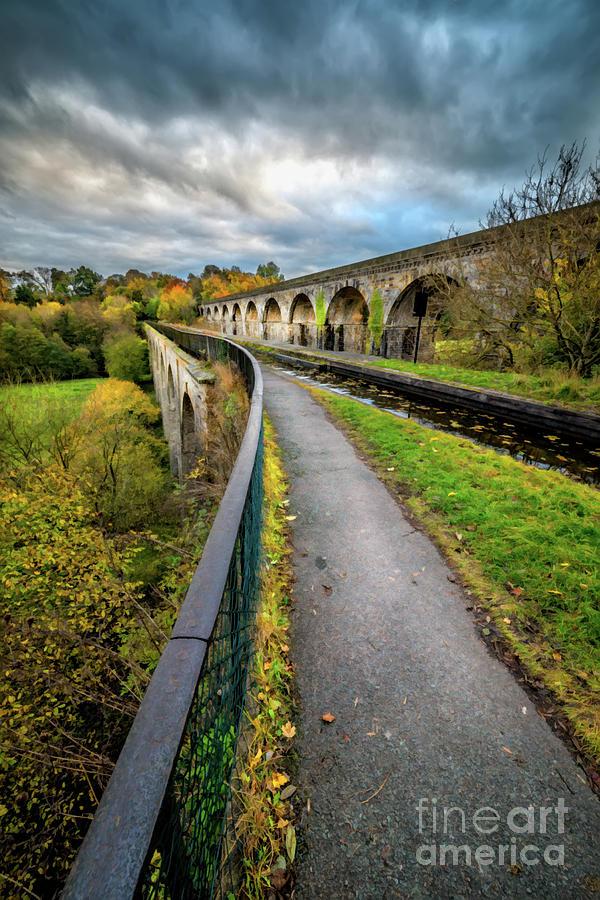 Chirk Aqueduct Wales by Adrian Evans