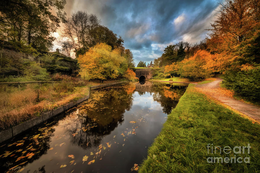 Chirk Canal Autumn by Adrian Evans
