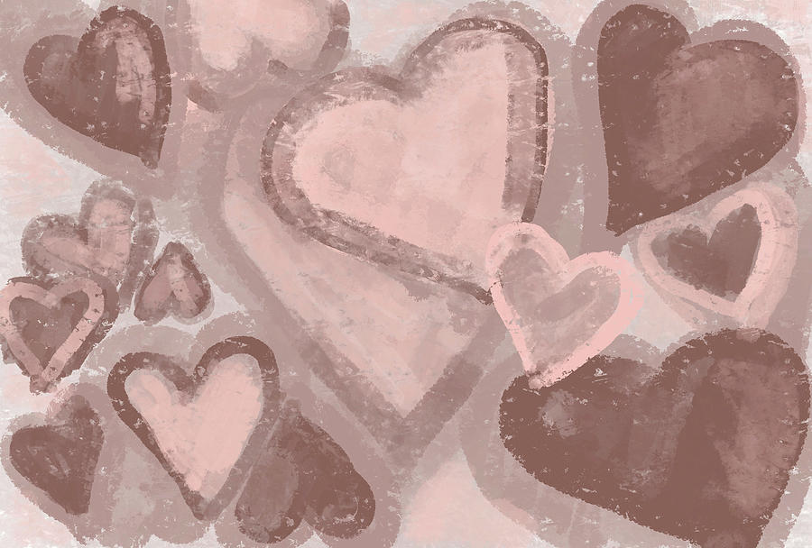 Chocolate Hearts Pattern Design for Love by Patricia Awapara