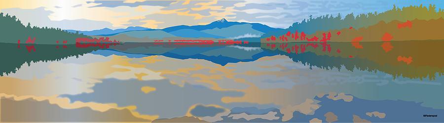 Mt. Chocorua Digital Art - Chocorua Lake by Marian Federspiel