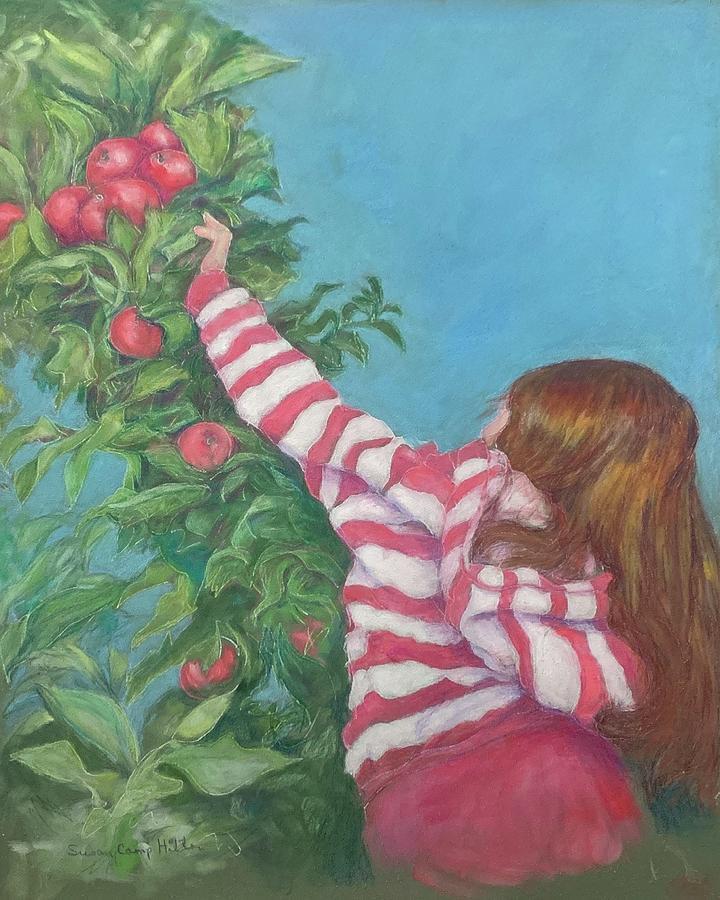 Color Pencil Pastel - Choice Apples  by Susan Camp Hilton