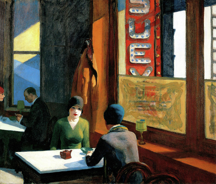 Edward Hopper Photograph - Chop Suey by Edward Hopper