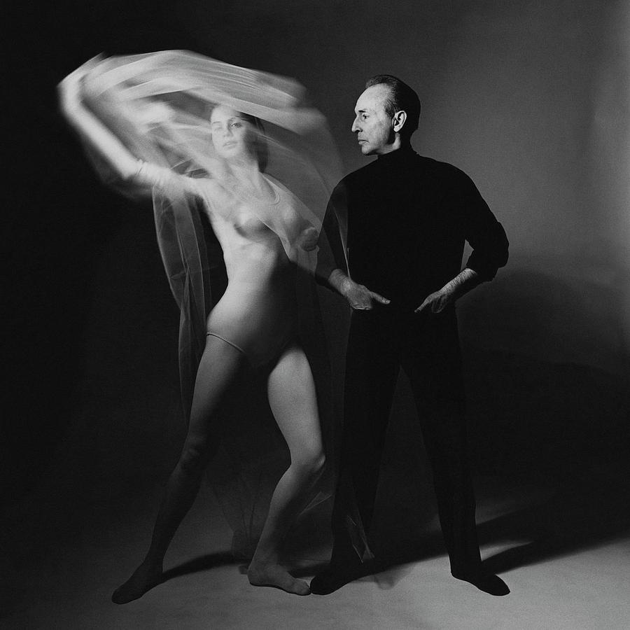 George Balanchine and Suzanne Farrell in  Don Quixote Photograph by Bert Stern