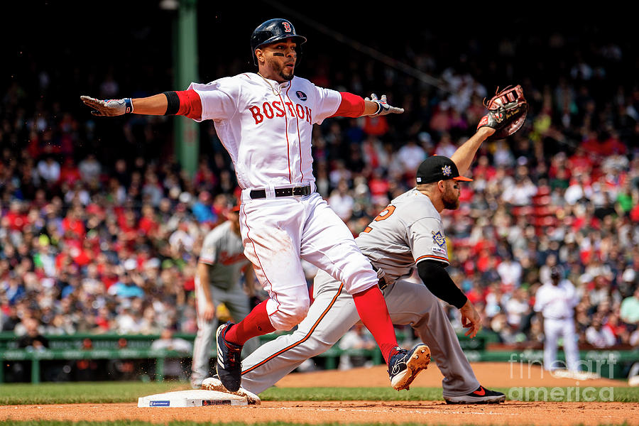 Chris Davis And Xander Bogaerts Photograph by Billie Weiss/boston Red Sox