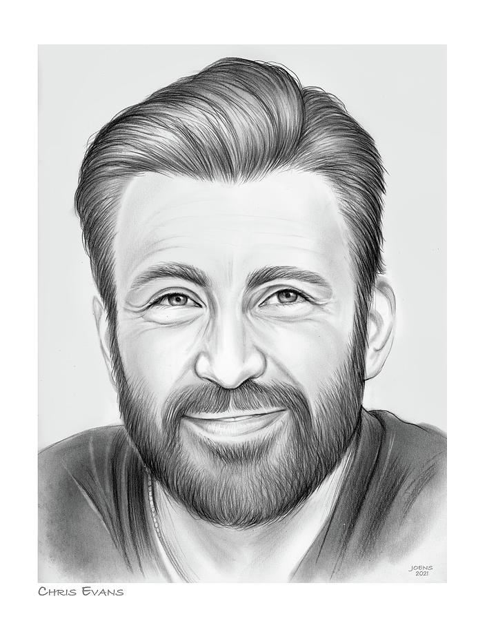 Chris Evans - Pencil Drawing