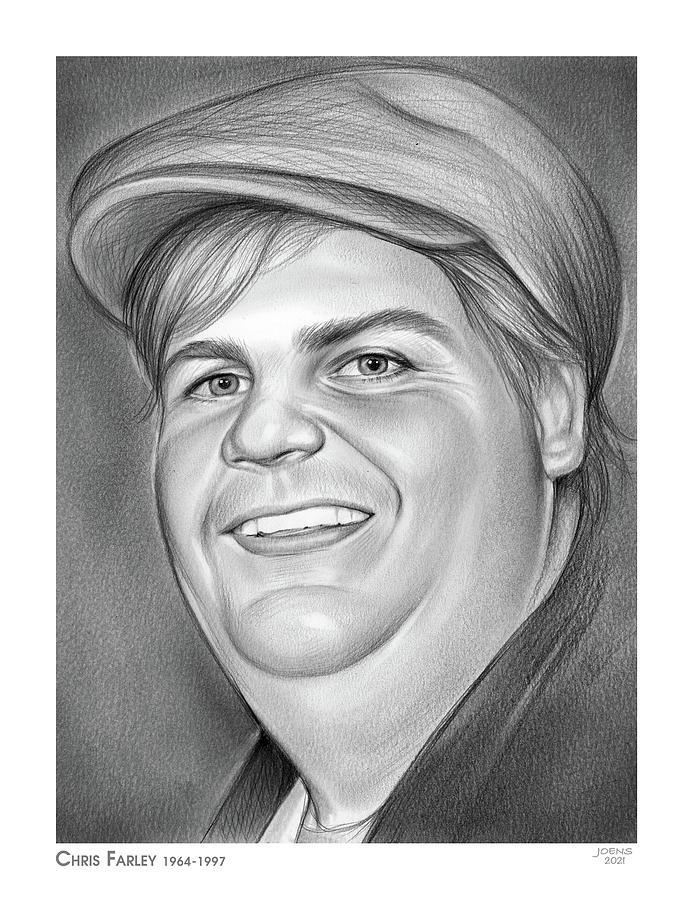 Chris Farley - Pencil Drawing