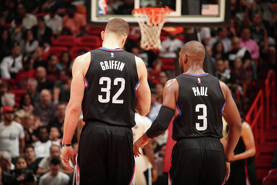 Chris Paul and Blake Griffin Photograph by Issac Baldizon