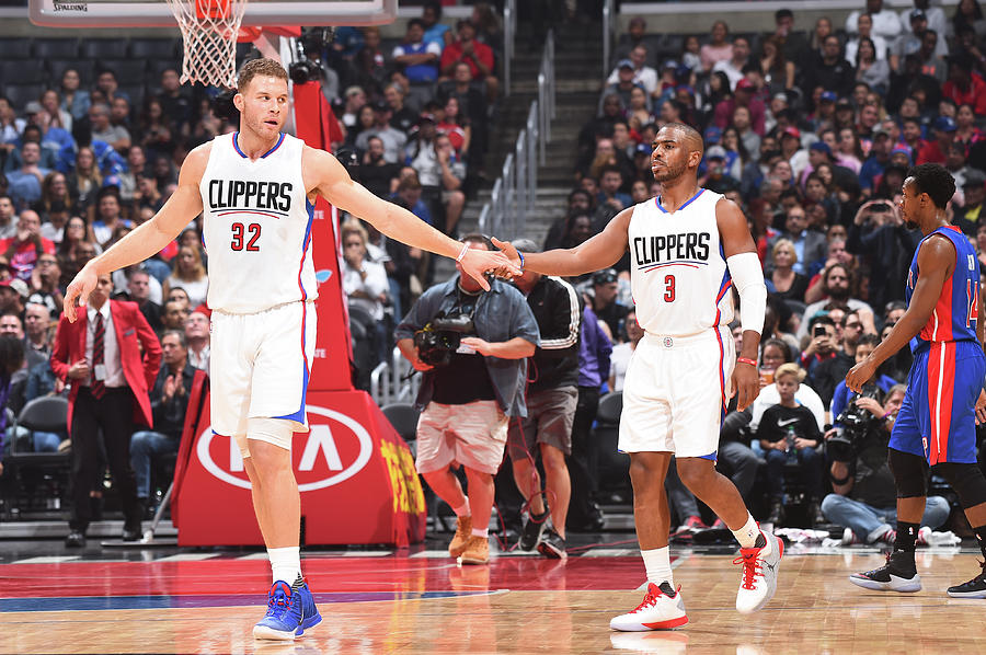 Chris Paul and Blake Griffin Photograph by Juan Ocampo