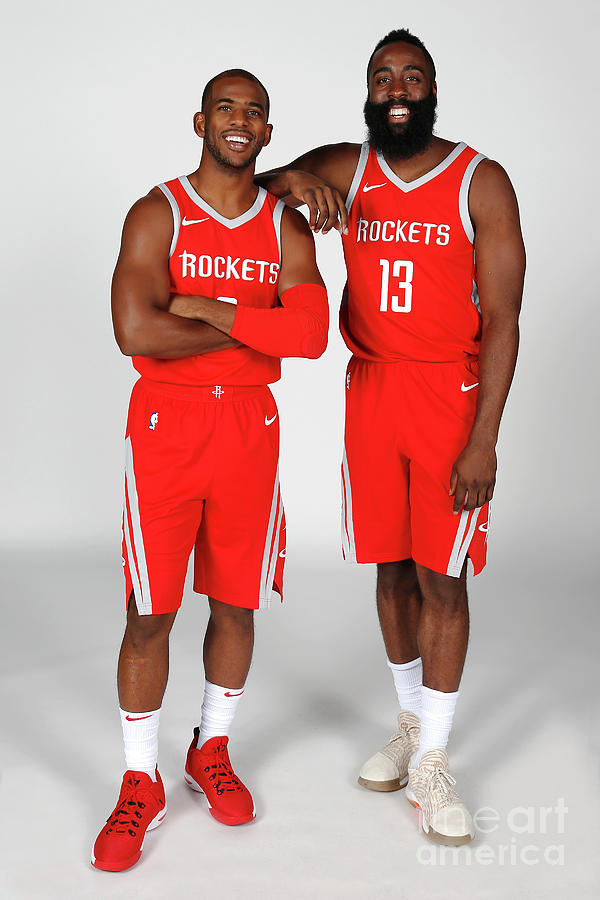 Chris Paul and James Harden Photograph by Nba Photos