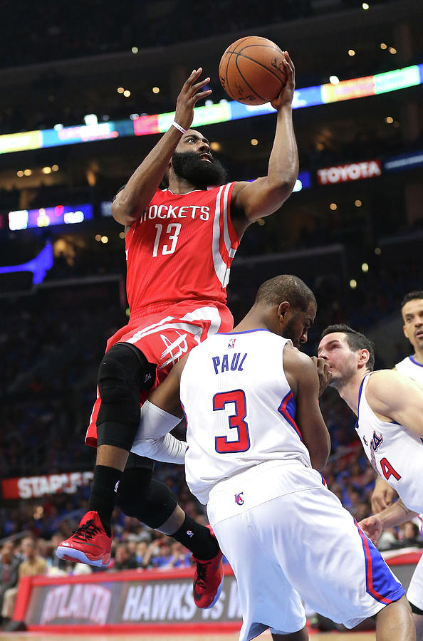 Chris Paul and James Harden Photograph by Stephen Dunn