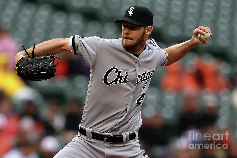 Chris Sale Photograph by Matt Hazlett